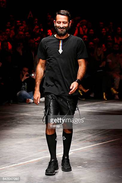 Designer Marcelo Burlon walks the runway at the Marcelo Burlon County Of Milan show during Milan Men's Fashion Week SS17 on June 19 2016 in Milan...