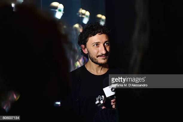 Designer Marco De Vincenzo attends 'Marco De Vincenzo' Women's Fashion Installation on January 14 2016 in Florence Italy