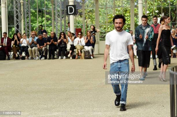 Designer Marco De Vincenzo attends the Marco De Vincenzo fashion show during Pitti Immagine Uomo 96 on June 12 2019 in Florence Italy