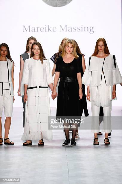 Designer Mareike Massing walk the runway at the fashion talent award 'Designer for Tomorrow' by Peek Cloppenburg and Fashion ID hosted by Zac Posen...