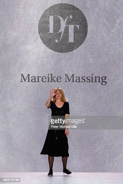 Designer Mareike Massing walks the runway at the fashion talent award 'Designer for Tomorrow' by Peek Cloppenburg and Fashion ID hosted by Zac Posen...
