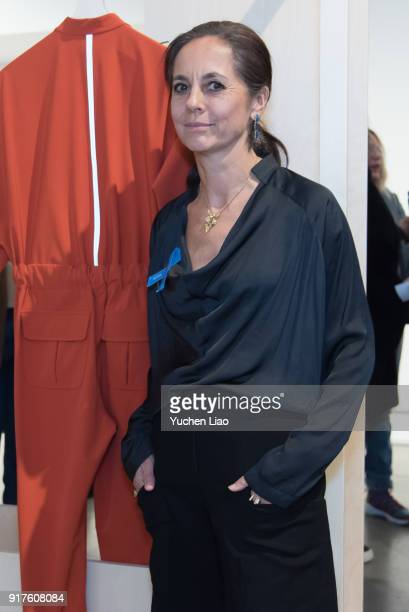 Designer Maria Cornejo poses for Zero Maria Cornejo Presentation February 2018 New York Fashion Week on February 12 2018 in New York City