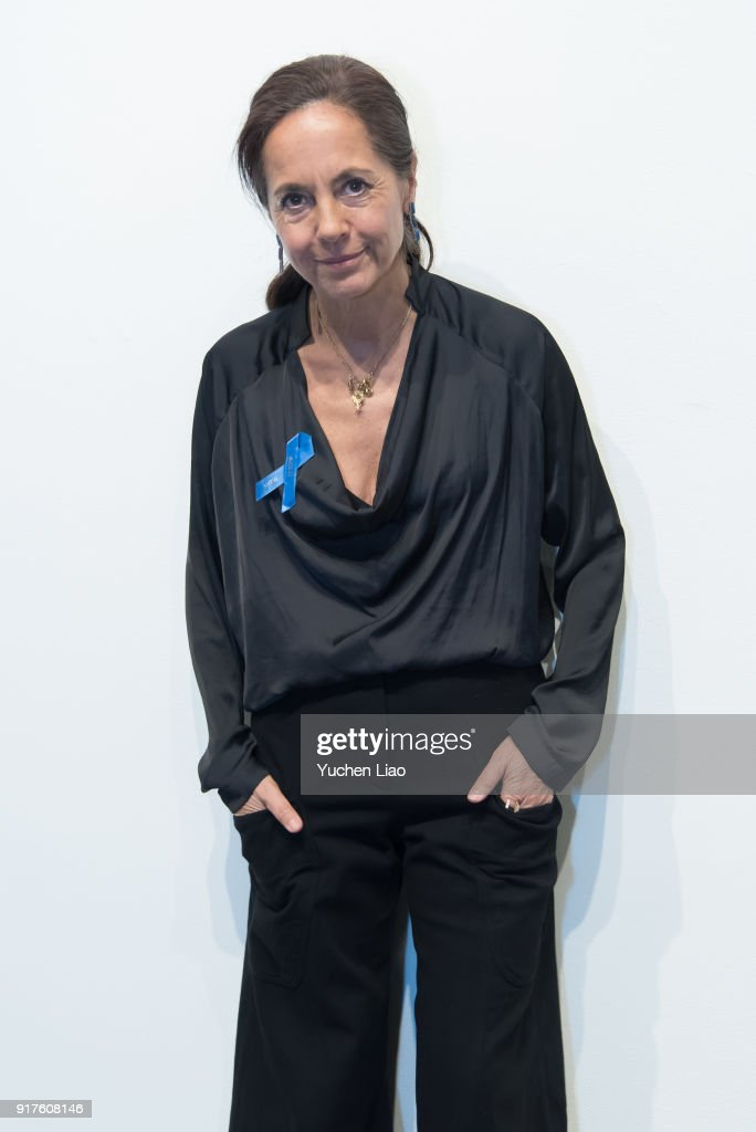 Designer Maria Cornejo poses for Zero + Maria Cornejo - Presentation - February 2018 - New York Fashion Week on February 12, 2018 in New York City.