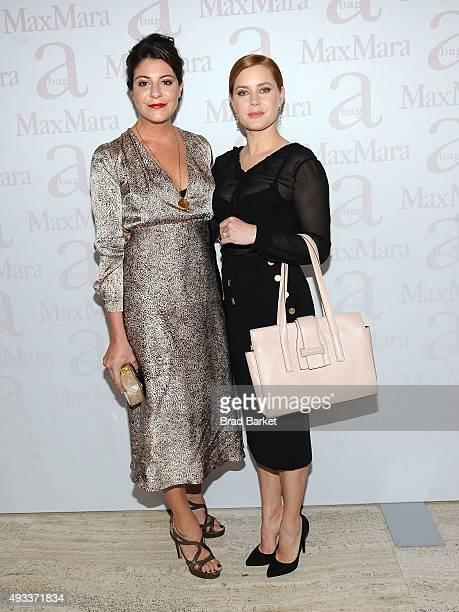 Designer Maria Giulia Maramotti and Amy Adams attend the Max Mara Spring/Summer 2016 Accessories Campaign Celebration at Four Seasons Restaurant on...