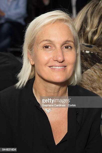 Designer Maria Grazia Chiuri attends the Schiaparelli Haute Couture Fall/Winter 20162017 show as part of Paris Fashion Week on July 4 2016 in Paris...