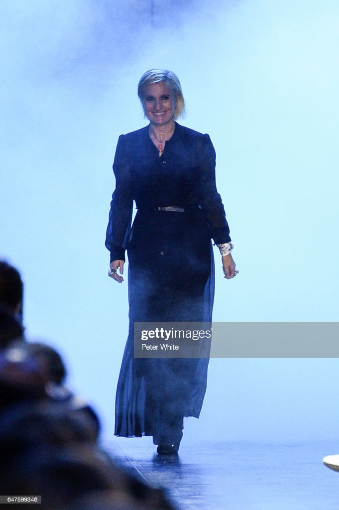 Designer Maria Grazia Chiuri is seen on the runway during the Christian Dior show as part of the Paris Fashion Week Womenswear Fall/Winter 2017/2018 on March 3, 2017 in Paris, France.