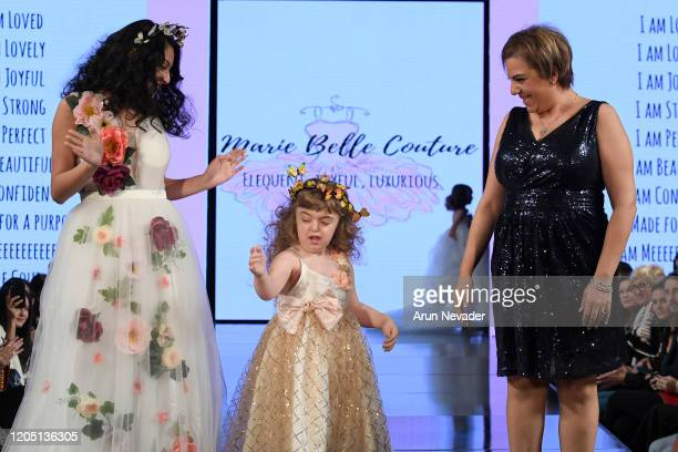 Designer Marie Youssef and models walk the runway during Marie Belle Couture At New York Fashion Week Powered By Art Hearts Fashion NYFW 2020 at The...