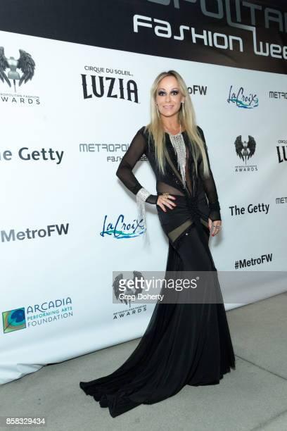 Designer Marika Soderlund Robison attends the Metropolitan Fashion Week Closing Night Gala at Arcadia Performing Arts Center on October 5 2017 in...