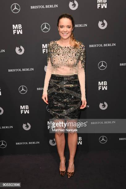 Designer Marina Hoermanseder attends the Dawid Tomaszewski show during the MBFW Berlin January 2018 at ewerk on January 15 2018 in Berlin Germany