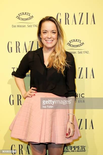 Designer Marina Hoermanseder attends the Grazia Fashion Dinner at Titanic Deluxe Hotel on January 16 2018 in Berlin Germany