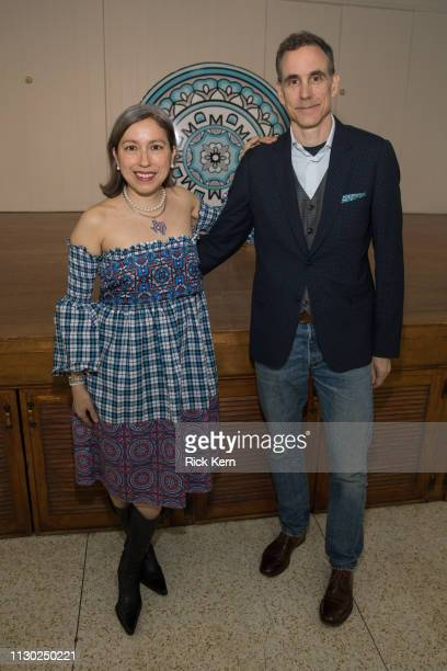 Designer Marisol Deluna and husband Jonathan Cole attend the Marisol Deluna Foundation Community Fashion Show at the San Antonio Garden Center on...