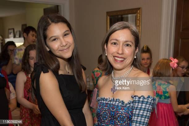 Designer Marisol Deluna and students attend the Marisol Deluna Foundation Community Fashion Show at the San Antonio Garden Center on February 16 2019...