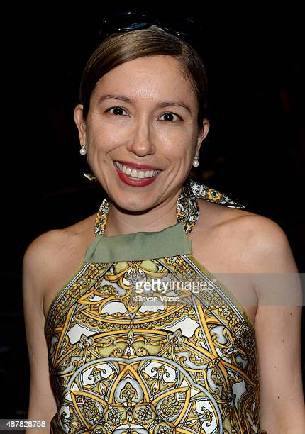 Designer Marisol Deluna attends the Academy of Art University Spring 2016 Collections fashion show at The Arc, Skylight at Moynihan Station on...