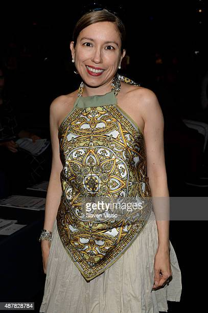 Designer Marisol Deluna attends the Academy of Art University Spring 2016 Collections fashion show at The Arc Skylight at Moynihan Station on...