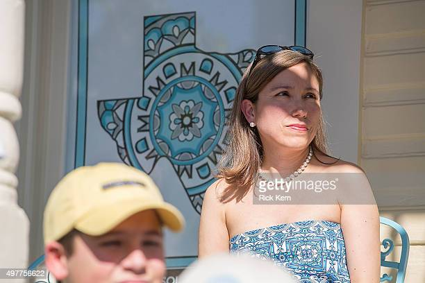 Designer Marisol Deluna attends the grand opening of Marisol Deluna New York Design Studio and Educational Foundation at La Villita Historic Art...