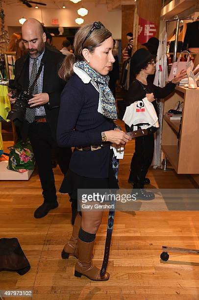 Designer Marisol Deluna attends the Housing Works' Fashion for Action 2015 at the Housing Works thrift store on November 19 2015 in New York City