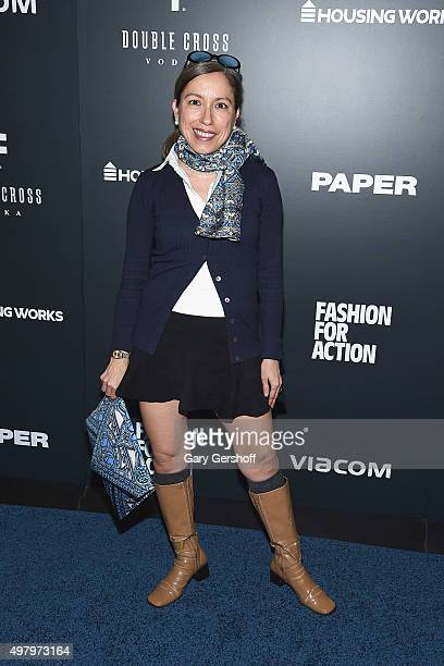 Designer Marisol Deluna attends the Housing Works' Fashion for Action 2015 at the Rubin Museum on November 19 2015 in New York City
