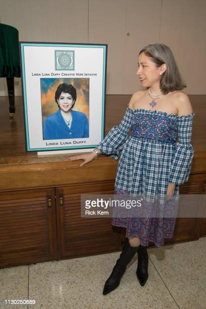 Designer Marisol Deluna attends the Marisol Deluna Foundation Community Fashion Show at the San Antonio Garden Center on February 16 2019 in San...