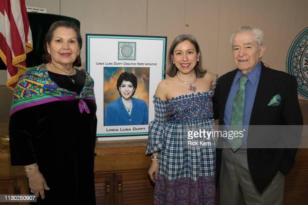 Designer Marisol Deluna her mother Peggy Luna and her father Rudy Luna attend the Marisol Deluna Foundation Community Fashion Show at the San Antonio...