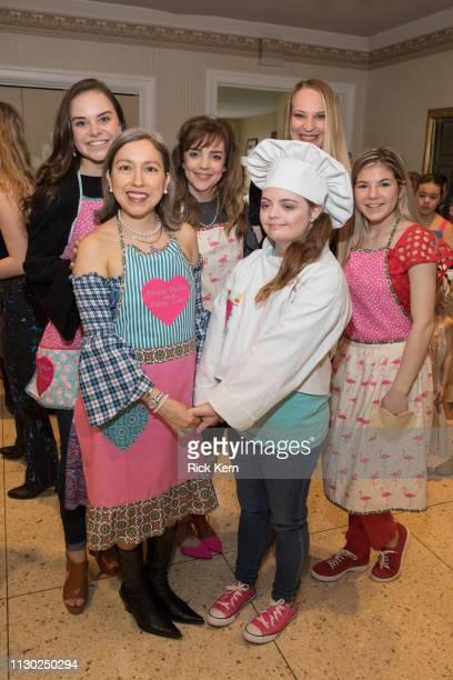 Designer Marisol Deluna Karen Meyer and Leah Meyer attend the Marisol Deluna Foundation Community Fashion Show at the San Antonio Garden Center on...