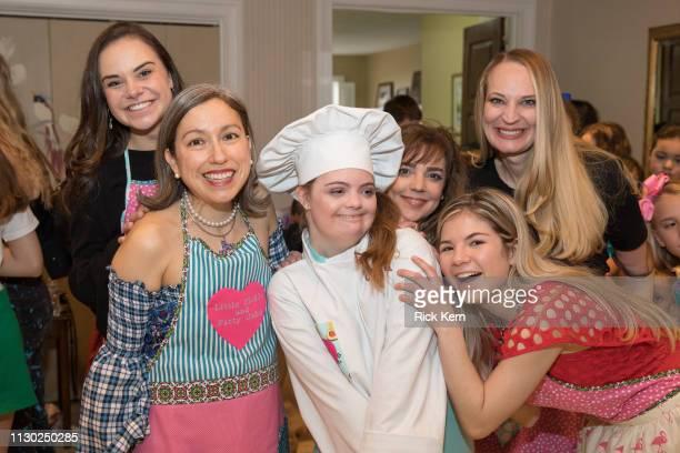 Designer Marisol Deluna Leah Meyer and Karen Meyer attend the Marisol Deluna Foundation Community Fashion Show at the San Antonio Garden Center on...