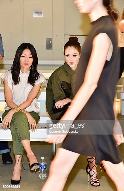 Designer Marissa Webb and Coco Rocha attend the Marissa Webb - Front Row & Backstage - September 2016 New York Fashion Week: The Shows at The...