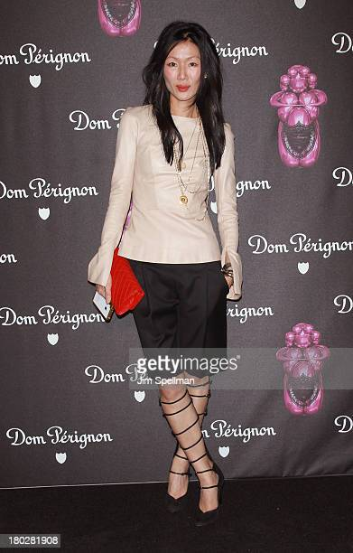 Designer Marissa Webb attends the Dom Perignon Limited Edition Jeff Koons Bottle Launch at 711 Greenwich Street on September 10 2013 in New York City