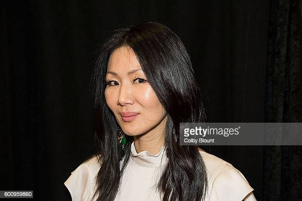 Designer Marissa Webb poses backstage at the Marissa Webb show during New York Fashion Week: The Shows September 2016 at The Gallery, Skylight at...