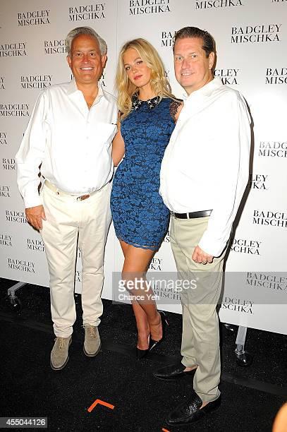 Designer Mark Badgley Erin Heatherton and designer James Mischka attend Yappn Corp Brings Fotoyapp To MercedesBenz Fashion Week at Lincoln Center on...