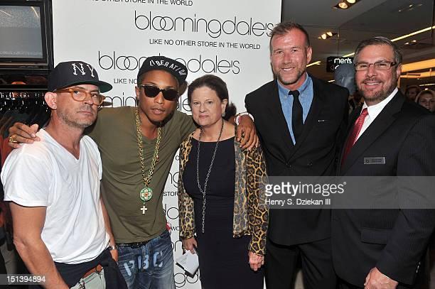 Designer Mark McNairy Billionaire Boys Club designer and musician Pharrell Williams SVP of Public Relations for Bloomingdale's Anne Keating VP of...