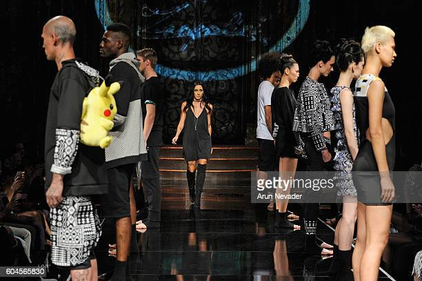 Designer Marta Zampolini walks the runway during the ZAMP by Zampolini show at Art Hearts Fashion NYFW The Shows presented by AIDS Healthcare...