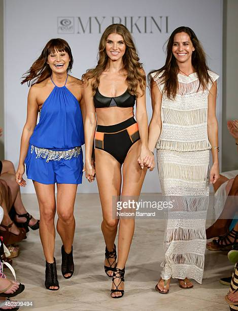 Designer Mary Miller walks the runway at the Rip Curl presentation during MercedesBenz Fashion Week Swim 2015 at The Raleigh on July 19 2014 in Miami...