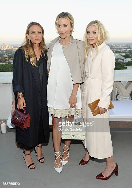 Designer MaryKate Olsen Jacey Duprie and designer Ashley Olsen attend Elizabeth and James Flagship Store Opening Celebration with InStyle at Chateau...