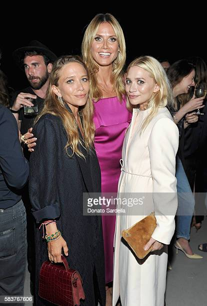 Designer MaryKate Olsen model Heidi Klum and designer Ashley Olsen attend Elizabeth and James Flagship Store Opening Celebration with InStyle at...