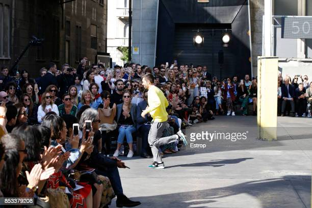 Designer Massimo Giorgetti at the MSGM show during Milan Fashion Week Spring/Summer 2018 on September 24 2017 in Milan Italy