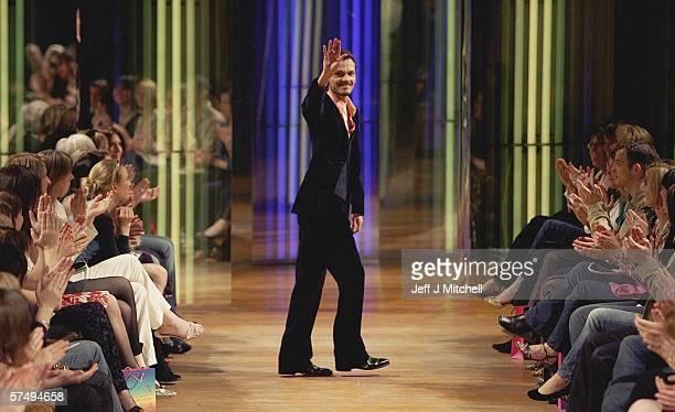 Designer Mathew Williamson is seen on stage at the Signet Library during the Edinburgh International fashion festival April 29 Edinburgh in Scotland...