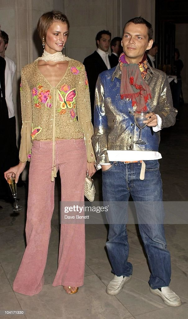 Designer Mathew Williamson With Model Marchetta, Fashion Photographer Mario Testino Attracted All The Most Glamorous Women In London To His Exhibition At The National Portrait Gallery.