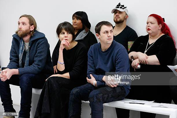 Designer Matthew Miller during rehearsals for the his show at the London Collections Men AW15 at Victoria House on January 10 2015 in London England