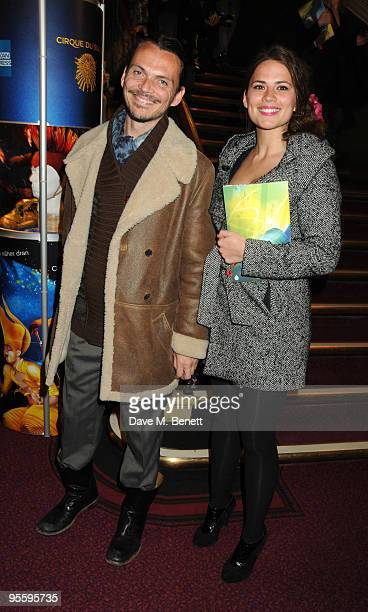 Designer Matthew Williamson and actress Hayley Atwell arrive at Cirque du Soleil's Varekai gala opening night at the Royal Albert Hall January 5 2009...