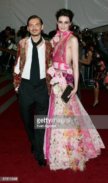 Designer Matthew Williamson and model Erin O'Connor attends the Metropolitan Museum of Art Costume Institute Benefit Gala Anglomania at the...