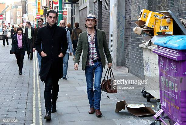 Designer Matthew Williamson arrives at The Old Truman Brewery for the Rankin Live private view on July 30 2009 in London England