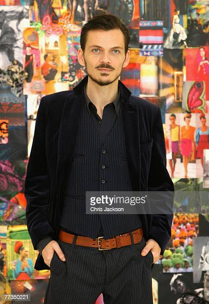 Designer Matthew Williamson poses for a portrait at the '10 Years in Fashion' Exhibition at the Design Museum on October 16 2007 in London England...