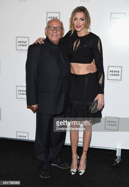Designer Max Azeia and Katie Cassidy attend Herve Leger By Max Azria during MercedesBenz Fashion Week Spring 2015 at The Theatre at Lincoln Center on...