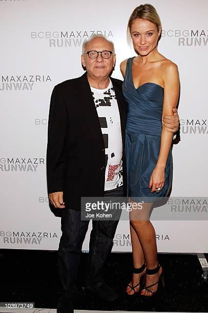 Designer Max Azria and actress Katrina Bowden attend the BCBG Max Azria Spring 2011 fashion show during MercedesBenz Fashion Week at The Theater at...