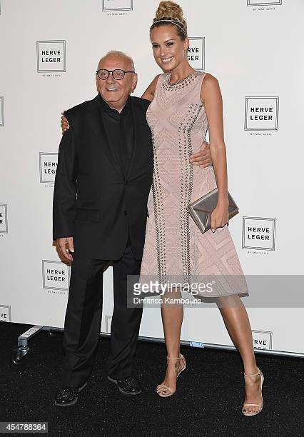Designer Max Azria and Pertra Nemcova attend Herve Leger By Max Azria during MercedesBenz Fashion Week Spring 2015 at The Theatre at Lincoln Center...