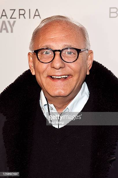 Designer Max Azria backstage at the BCBG Max Azria Fall 2011 fashion show during Mercedes-Benz Fashion Week at The Theatre at Lincoln Center on...