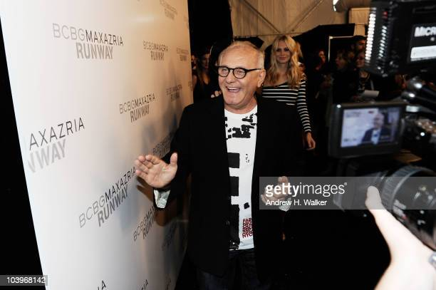 Designer Max Azria interviews backstage at the BCBG Spring 2011 fashion show during MercedesBenz Fashion Week at Lincoln Center on September 10 2010...