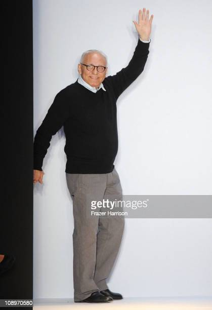 Designer Max Azria walks the runway at the BCBGMAXAZRIA Fall 2011 fashion show during MercedesBenz Fashion Week at The Theatre at Lincoln Center on...