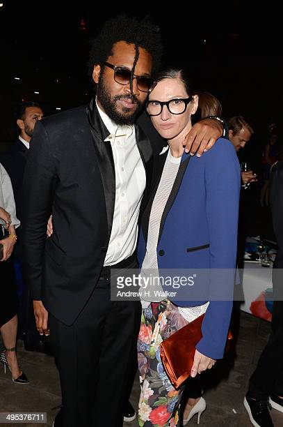 Designer Maxwell Osborne and Jenna Lyons attend the 2014 CFDA Fashion Awards at Alice Tully Hall Lincoln Center on June 2 2014 in New York City