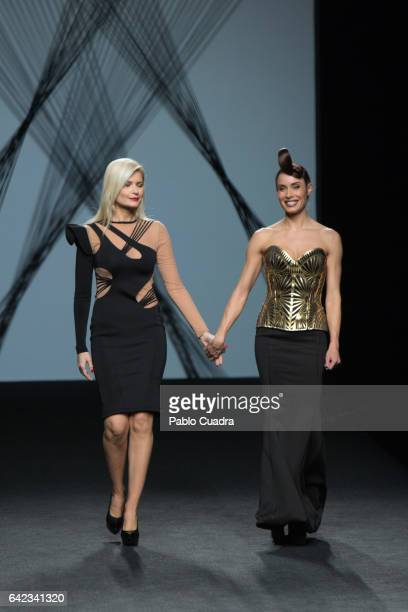 Designer Maya Hansen and Pilar Rubio walk the runway at the Maya Hansen show during the MercedesBenz Madrid Fashion Week Autumn/Winter 2017 at Ifema...